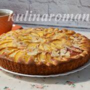 домашний пирог с нектаринами