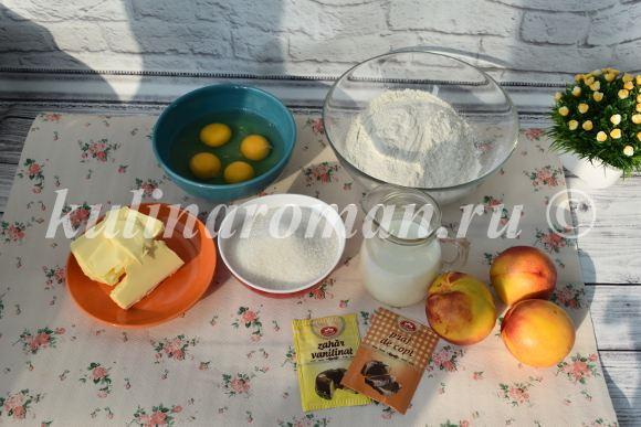 пирог с нектаринами рецепт