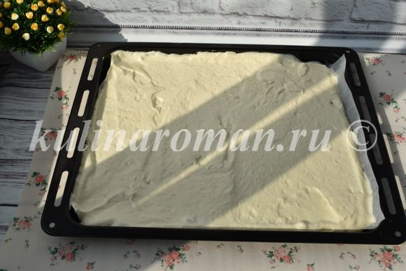 бисквитный рулет с масляным кремом