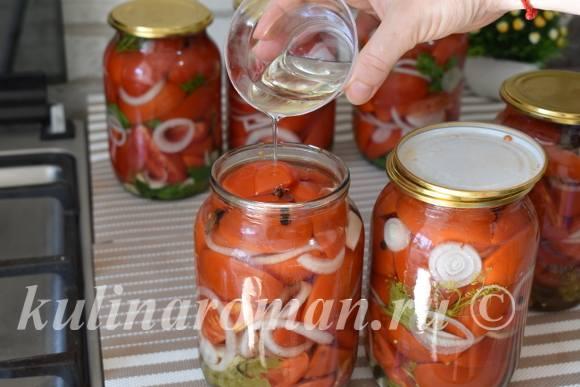 помидоры с маслом на зиму