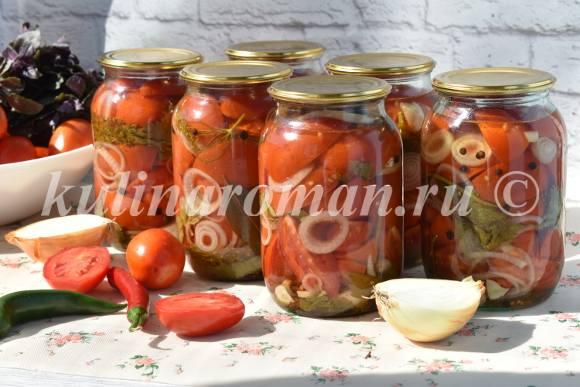 помидоры на зиму пальчики оближешь
