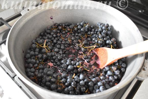 сок на зиму из винограда
