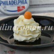 крем чиз на масле для торта