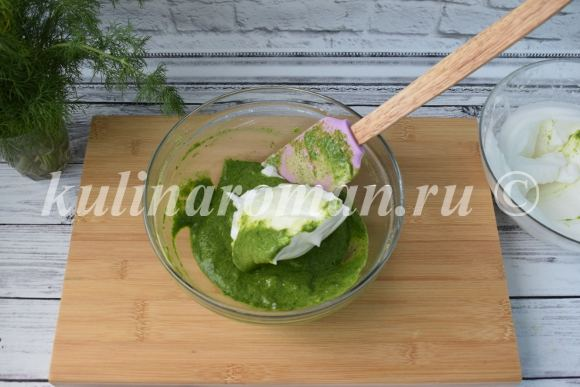 рулет из шпината с творогом и семгой