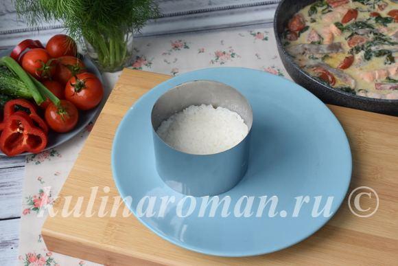 красивая подача риса
