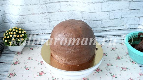 покрываем торт ганашем