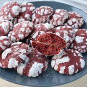 печенье красный бархат фото