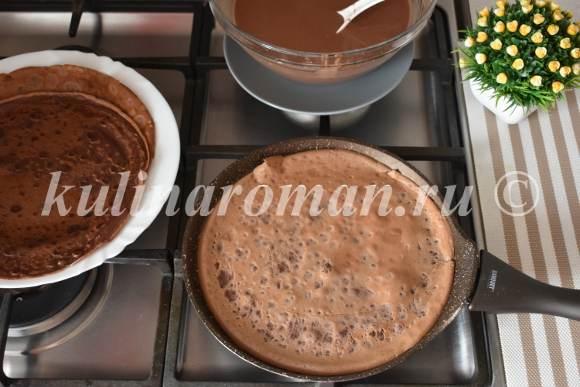 шоколадные блины рецепт с фото