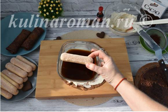 блины с печеньем савоярди