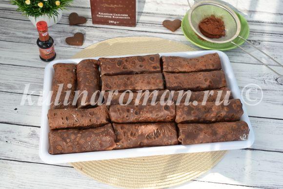 шоколадные блины с начинкой