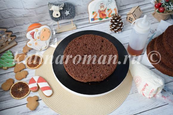 шоколадный торт с апельсином