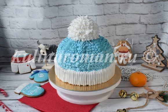 торт новогодняя шапка