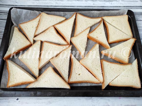 поджарить хлеб в духовке