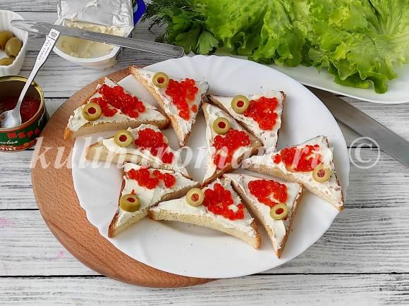 праздничные бутерброды рецепт