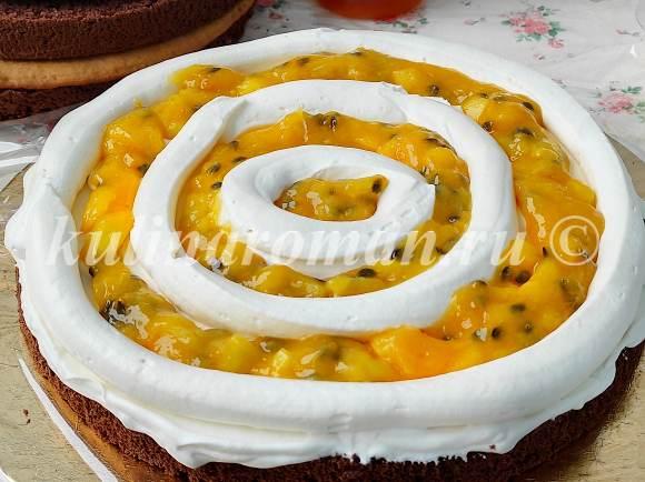 торт с конфитюром манго маракуйя
