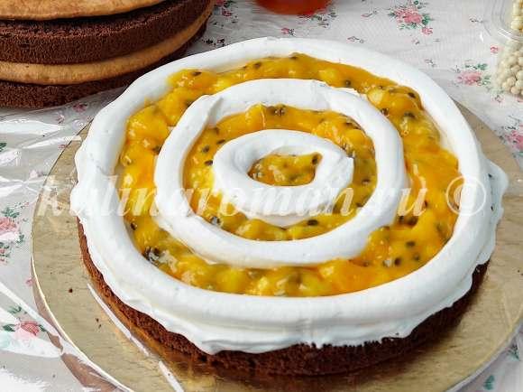 торт манго маракуйя