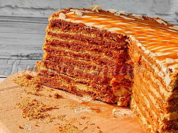 карамельный торт пошаговый рецепт