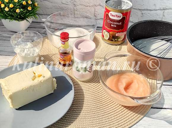 заварной крем на кокосовом молоке