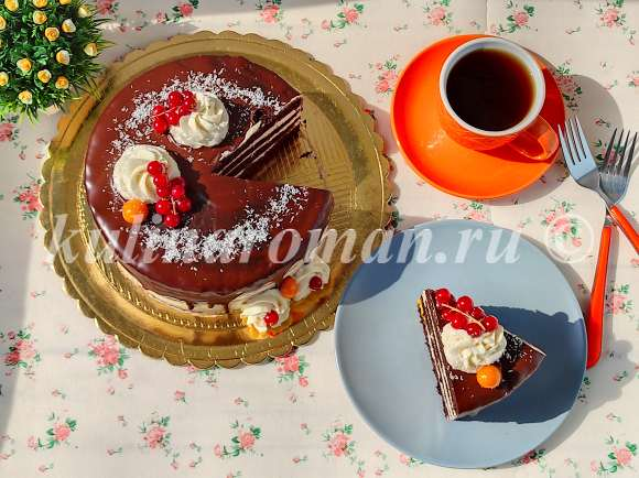 вкусный постный торт