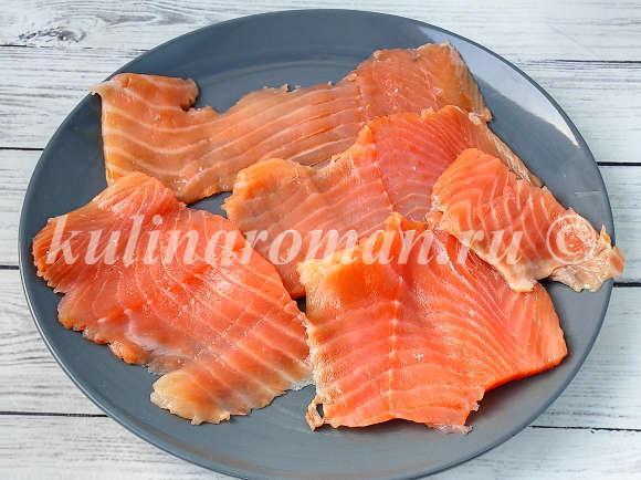 роллы с красной рыбой