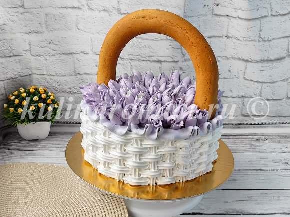 вставляем ручку в торт