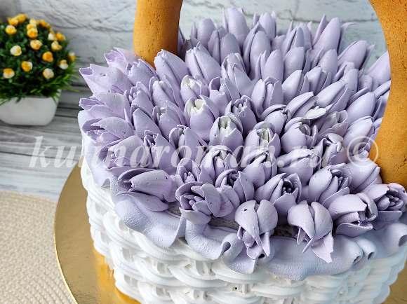 цветы из белкового крема