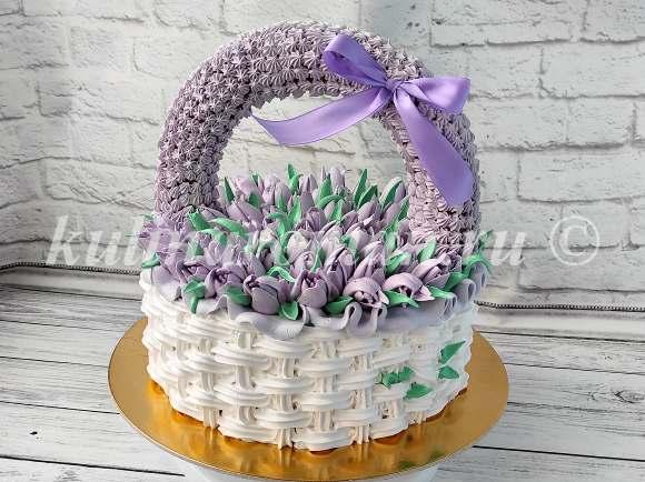торт в виде корзины