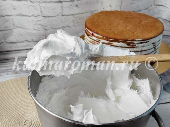 кремовый торт корзинка