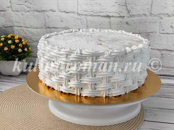как приготовить торт корзина