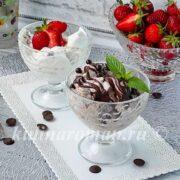 сливочное и шоколадное мороженое