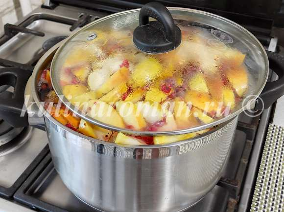 как приготовить компот в кастрюле