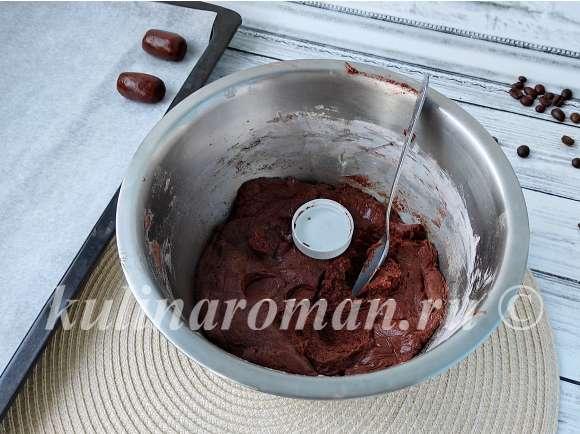 печенье в виде зерен кофе