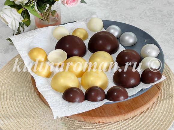 шоколадные шары для торта