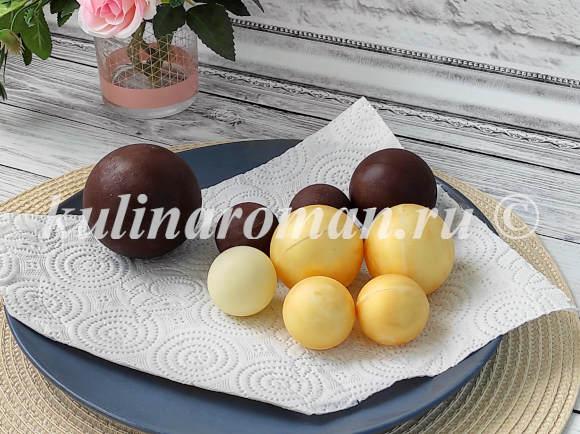 шоколадные шары на торт