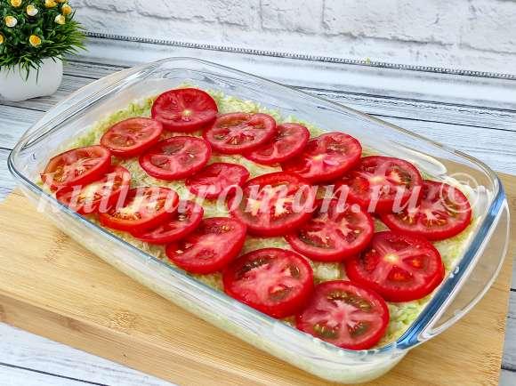 кабачковая запеканка с помидорами