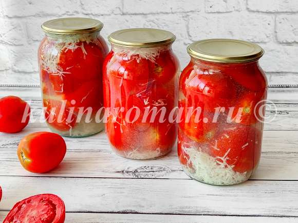 помидоры консервированные с чесноком