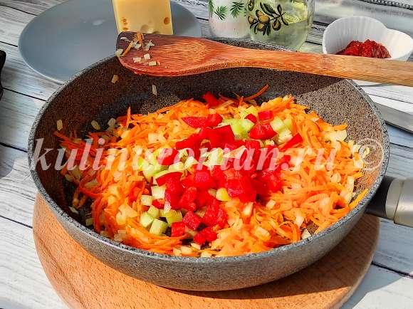 макароны с овощами в духовке