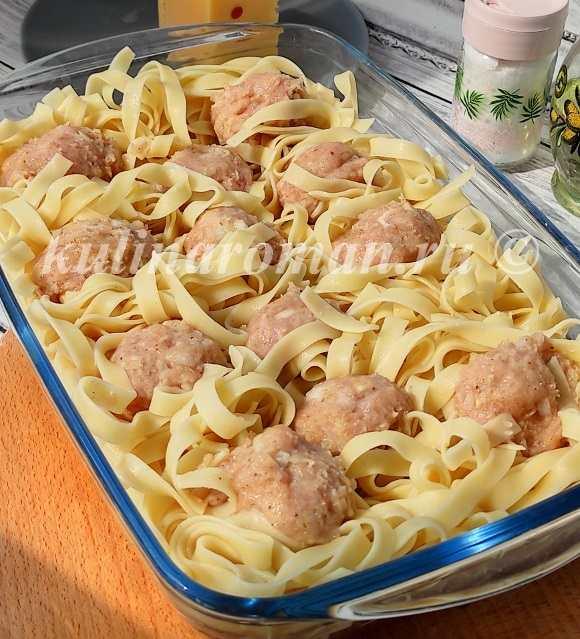 гнезда из макарон с фаршем рецепт