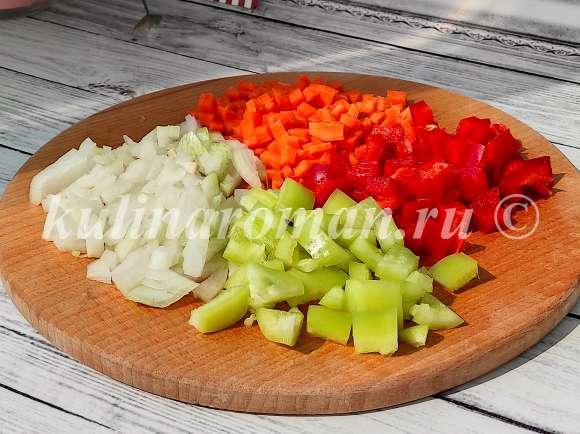 кускус с овощами на сковороде