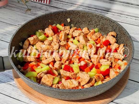 индейка с овощами рецепт